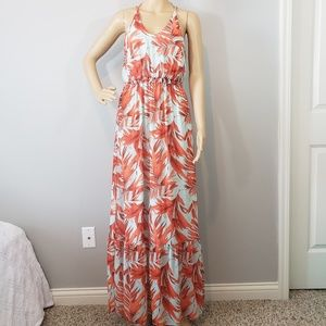 H&M Tropical Cross Strap Maxi Dress
